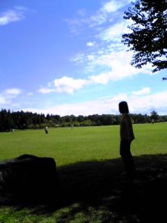 北秋田の公園で