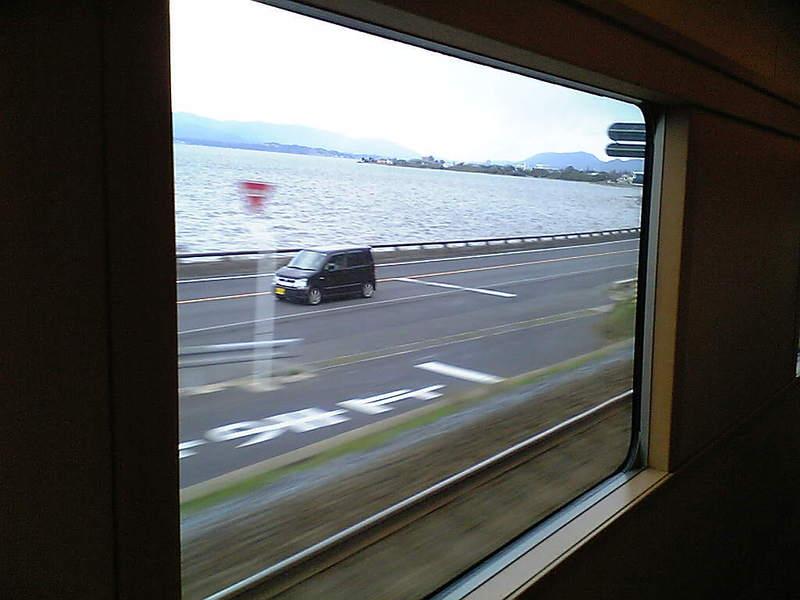 宍道湖通過